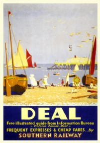 Deal, Kent. Vintage SR Travel poster by Sir Herbert Alker Tripp. c1930